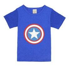 2021 летняя детская футболка для мальчиков и девочек, одежда для Мстителей, футболка для мальчиков, одежда, футболка с принтом капитана суперг...