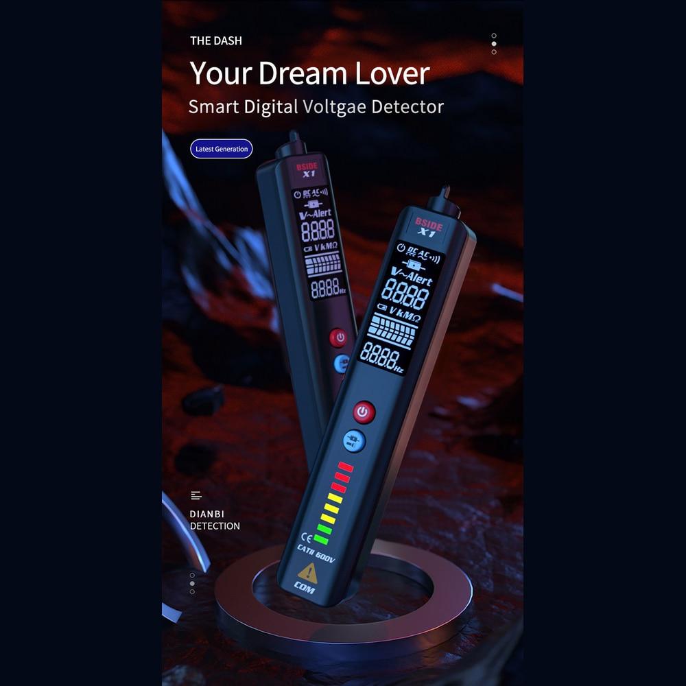 Inteligente display lcd multímetro digital detector de
