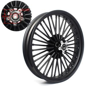 "Image 2 - BIKINGBOY 21"" x 3.5"" Single Disc Front Wheel Rim Hub 36 Fat King Spokes For Harley Dyna / Softail / Touring / Sportster"