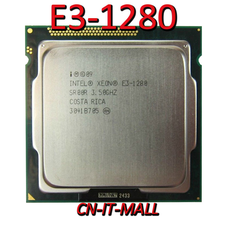 Intel Xeon E3-1280 CPU 3.5GHz 8M 4 Core 8 Threads LGA1155 Processor