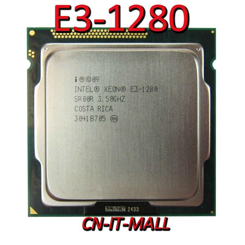 Intel Xeon E3-1280 CPU 3.5GHz 8M 4 Core 8 Threads LGA1155 Processor