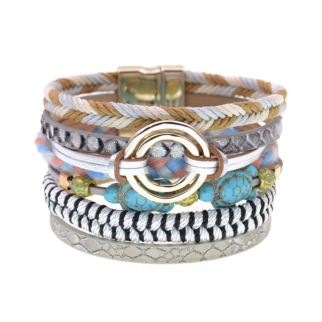 Boho Multilayered Charm Bracelets