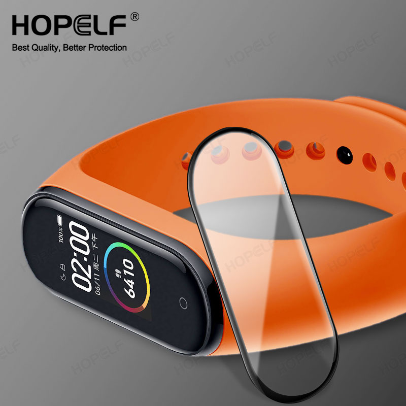 3D Tempered Glass For Xiaomi Mi Band 4 Glass Curved Edge HD Screen Protector Film Full Cover Mi Band4 Glass For Xiaomi Mi Band 4
