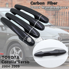 Exterior Carbon Fiber Door Handle Cover Catch Trim Car Accessories for Toyota Corolla Verso AR10 2004 2005 2006 2007 2008 2009