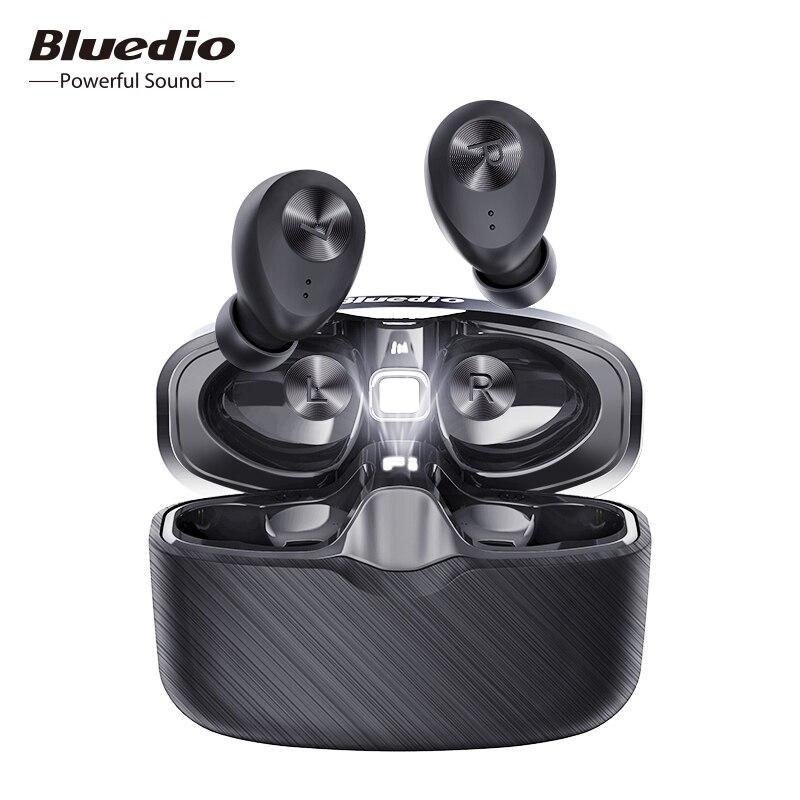 Bluedio Fi Bluetooth Earphone TWS Wireless Earbuds APTX Waterproof Sports Headset Wireless Earphone In ear Charging Box