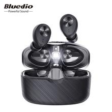 Bluedio Fi auriculares TWS, inalámbricos por Bluetooth, APTX, impermeables, deportivos, intrauditivos, caja de carga