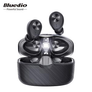 Image 1 - Bluedio Fi, écouteur Bluetooth, TWS, écouteurs sans fil, APTX, étanche, casque de sport, écouteur sans fil, dans loreille, boîtier de charge