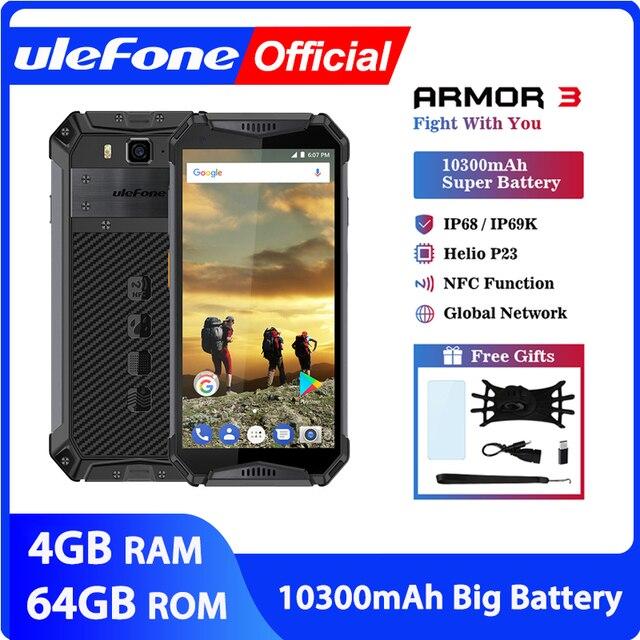 "Téléphone portable étanche Ulefone Armor 3 IP68 Android 8.1 5.7 ""FHD + Octa Core helio P23 4GB 64GB NFC Version mondiale Smartphone"