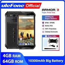 Ulefone teléfono inteligente Armor 3 resistente al agua IP68, Android 8,1, pantalla FHD de 5,7 pulgadas, Octa Core, helio P23, 4GB RAM, 64GB rom, soporta NFC, versión Global
