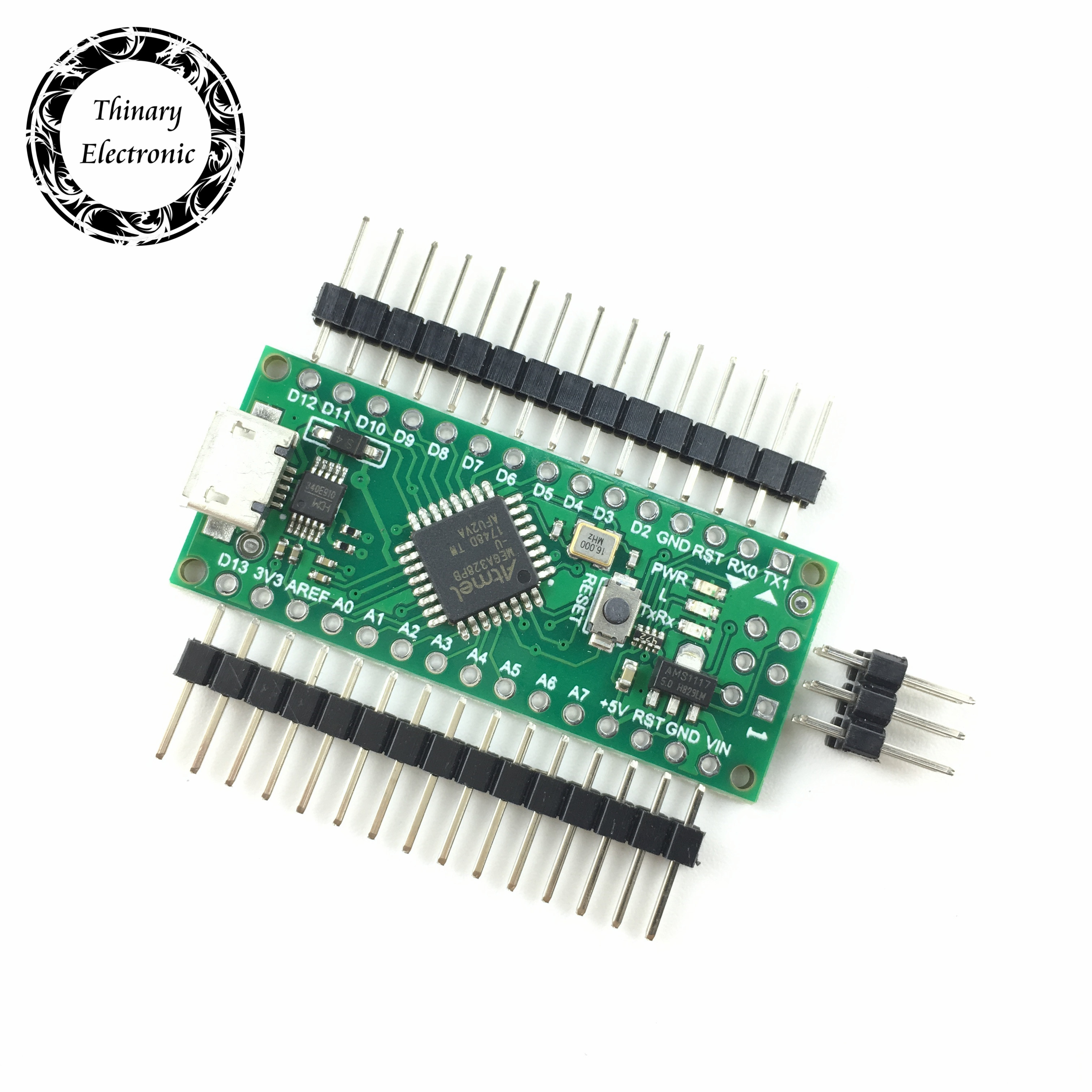 100pcs Nano 3.0 controller compatible with for arduino compatible nano Atmega328 Series CH340 USB driver NO CABLE Atmega328PB-in Integrated Circuits from Electronic Components & Supplies