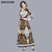 Женское винтажное платье элегантное богемное осеннее женское