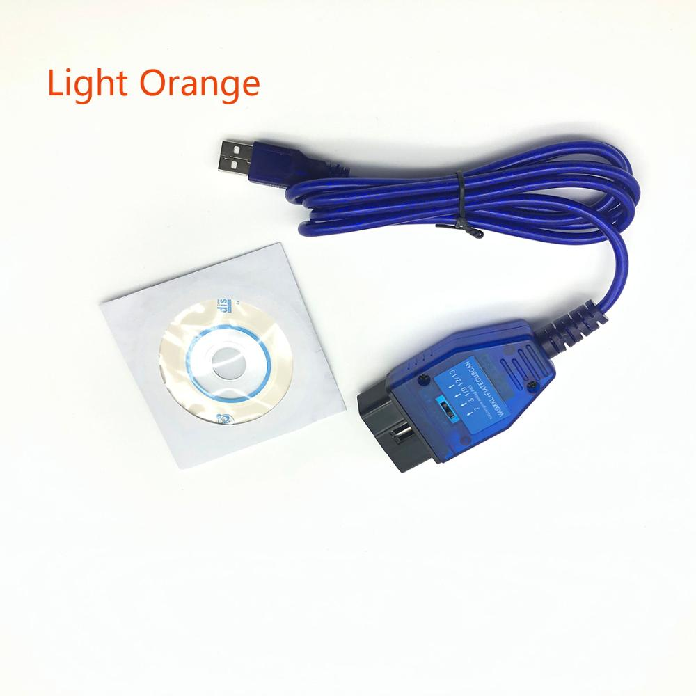 OBD 2 FT232RL Chip USB Cable KKL <font><b>VAG</b></font>-<font><b>COM</b></font> <font><b>409.1</b></font> <font><b>OBD2</b></font> OBDII Diagnostic Scanner For VW Audi Seat Skoda image