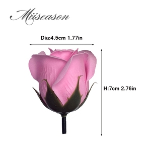 Image 2 - 50pcs Diameter 4.5cm Cheap Soap Rose Head beauty Wedding Valentines Day Gift Wedding Bouquet Home Decoration Hand Flower Art
