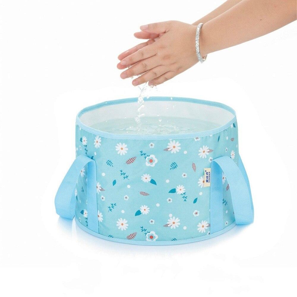New Portable Folding Bucket Collapsible Multifunction Folding Outdoor Bucket Basin Camping Hiking Fishing Foot Washing Hand