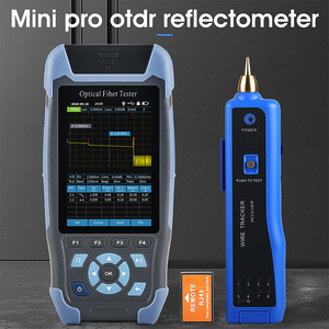 mini OTDR Fiber Optic Reflectometer 980rev with 9 Functions VFL OLS OPM Event Map 24dB for 64km Fiber Cable Ethernet Tester
