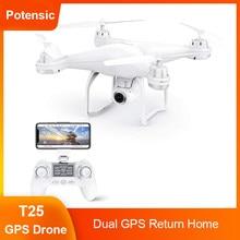 Potensic Professionnel T25 Drone Wifi FPV Hélicoptère RC avec 1080P Caméra Retour Automatique Accueil Maintien D'altitude 9 Axes Quadrirotor