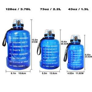 Image 2 - QuiFit 128oz 73oz 43oz Sport Big Gallon Water Bottle With Filter Net Fruit Infuse BPA Free My Drink Bottles Jug Gourd Gym Hiking