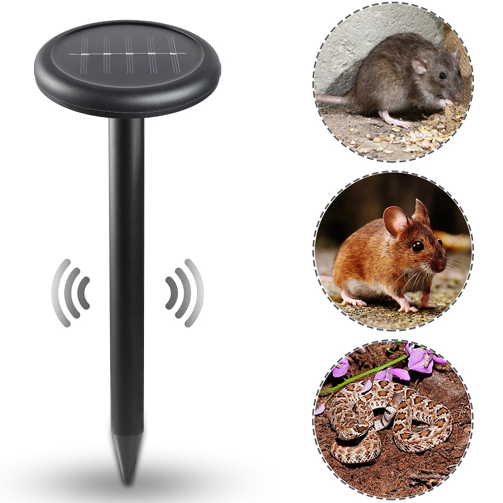 2pcs Mouse Expeller Solar Powered Mouse Rat Repeller Ultar Sonic For Outdoor Ground Mice Multi Tool Mouse Expeller