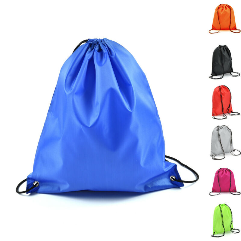 Hot Man Women Polyester String Drawstring Back Pack Cinch Sack Gym Tote Bag Cinch Sack Gym Tote Bag School Sport Bag New Style
