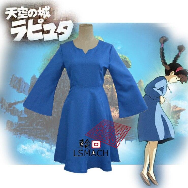 Laputa Castle in the Sky Sheeta Women Dress Cosplay Costume Customize Halloween