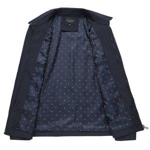 Image 4 - 봄 가을 망 패션 대표팀 재킷 품질 단색 검정 남성 윈드 브레이커 고품질 브랜드 남성 의류 크기 M 3XL