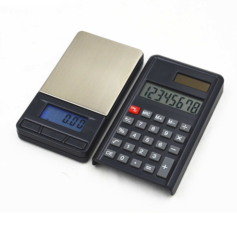 200g/0.01g Calculator Electronic Scale High Precision Electronic Jewelry Mini Palm Digital Pocket Scale
