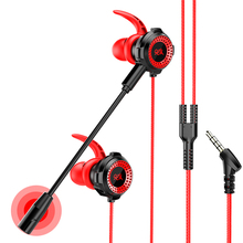 3.5mm HiFi Wired Earphone With Mic Volume Control Sports Earphones Subwoofer Gaming Headset for Iphone Xiaomi huawei earbuds new razer hammerhead pro v2 earphone flat style cables with 3 5mm jack and volume controls with mic for mobile gaming earphones