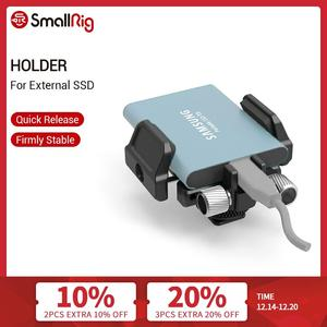"""Image 1 - SmallRig Universal Holder for External SSD Holder Clamp With Cold Shoe and 1/4"""" 20 Screws   2343"""