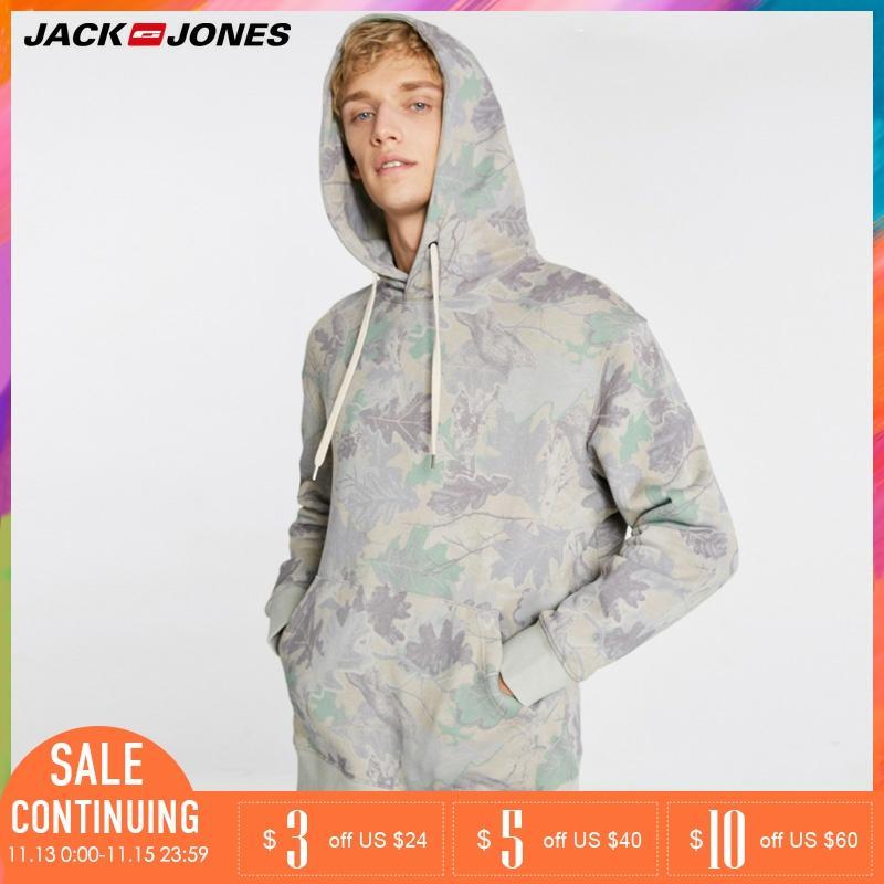 JackJones Men Individual Printed Hooded Cover Leisure Hoodies Sweatshirt   218433505