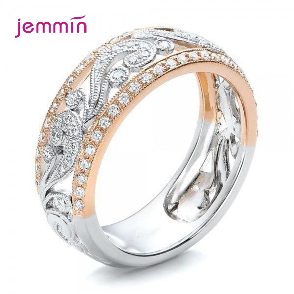 Trendy Engagement Rings Women Accessories 925 Sterling Silver Shine Shimmer Cubic Zircon Hollow Knuckle Finger Ring Anillos