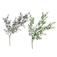 Hot 1Pc Artificial Eucalyptus Leaf 3 Branches Plant for DIY Wedding Party Home Decor Plants