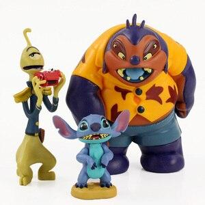 Image 4 - 6pcs/lot Lilo and Stitch Figure Toy Scrump Lilo Nani Pelekai Pleakley Jumba Jookiba Model Dolls Children Gifts