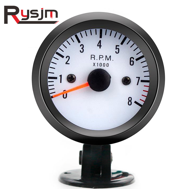 "Auto Car Motor 2/"" 52mm Tacho Tachometer RPM Pointer Gauge Meter W// Holder Cup"