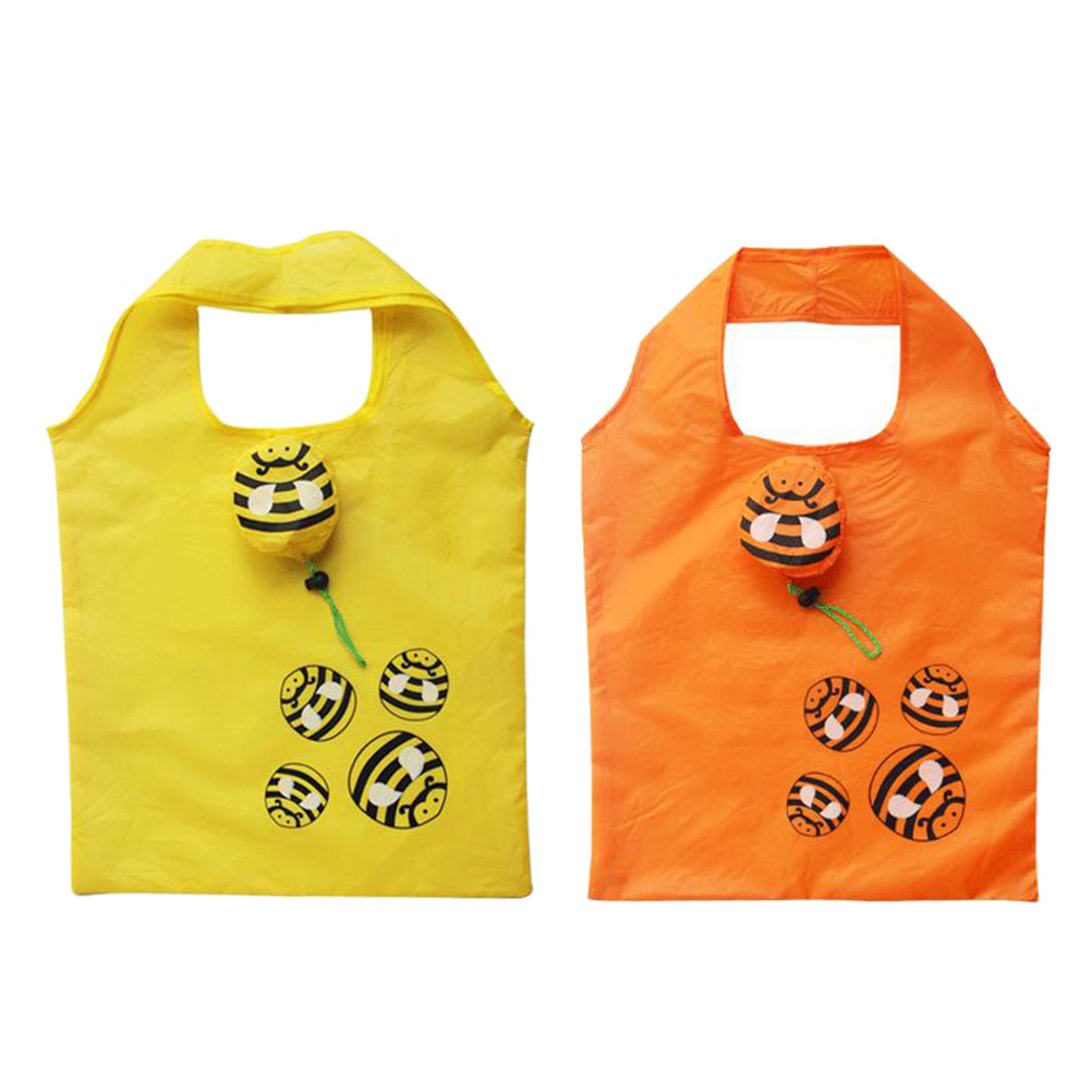 Tote Bee-Decoration Handbags Folding Random-Color 2pcs Creative Reusable