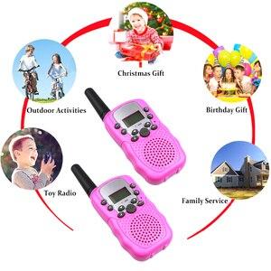Image 5 - Nouveau 2 pièces Mini talkie walkie enfants Radio Station T388 0.5W PMR PMR446 FRS UHF Portable Radio communicateur cadeau pour enfant