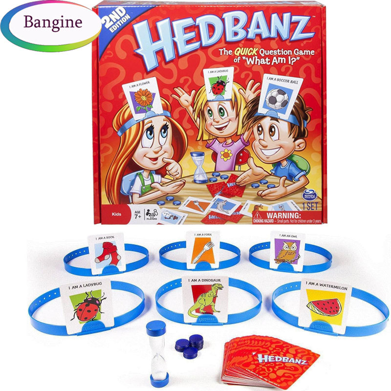 Board Games Card Guess Who Game What Am I English Board Games Card Hedbanz Game