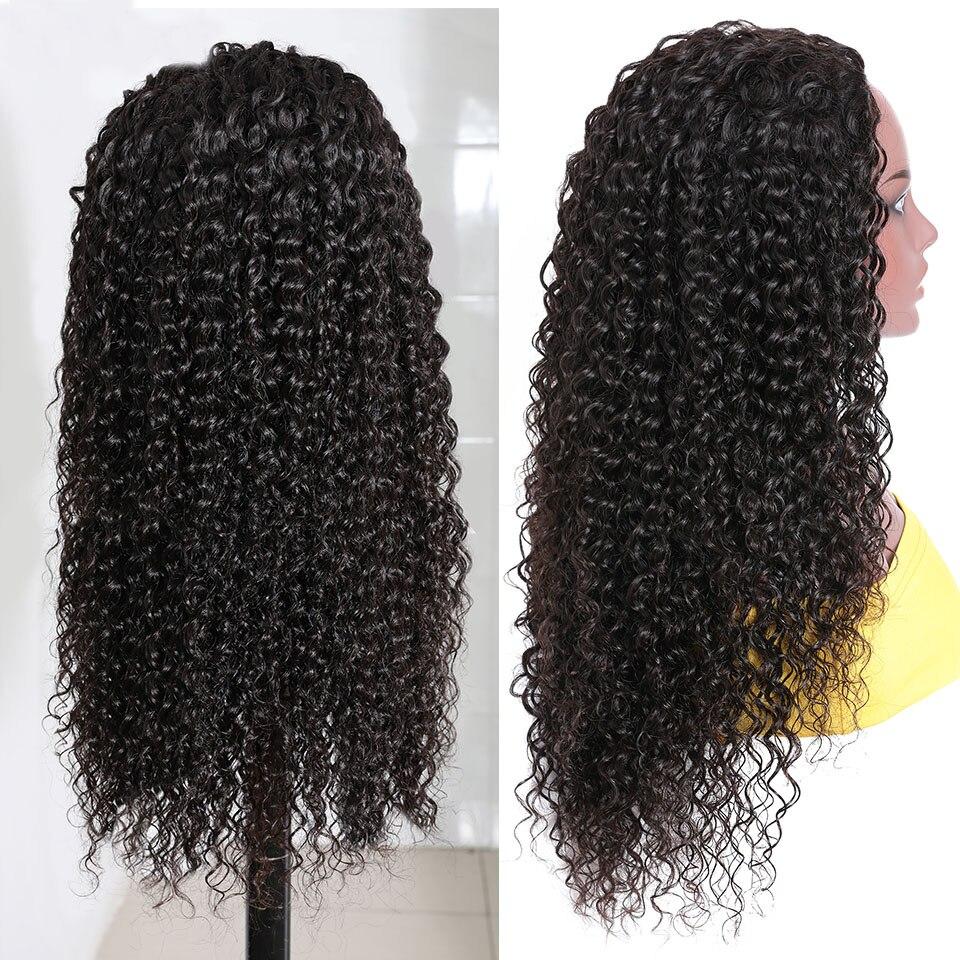 Kinky curly 3 4 meia peruca de