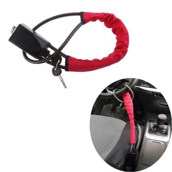 Universal Car Steering Wheel Anti Theft Quad Lock Anti Theft Car Lock To Safety Belt Lock Catch Auto Security Locking Devices
