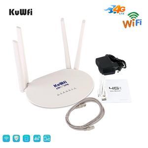 Image 5 - KuWFi 300Mbps 4G LTE Router Wifi 3G/4G Router Sim Card Sbloccato Router Wireless con 4Pcs Antenna Esterna Up 32 Utenti Wifi