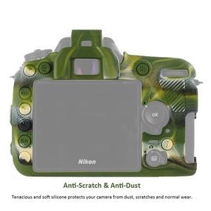 Image 4 - لنيكون غلاف حماية سيليكون للكاميرا الليتشي الملمس كاميرا حامي غطاء لنيكون D4 D4S D5 D500 D800 D810 D810a D750 D850 D7500