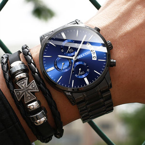 Image 5 - Belushi moda masculina relógios de quartzo analógico 30m à prova dwaterproof água cronógrafo esporte data aço relógio masculino relógios militares