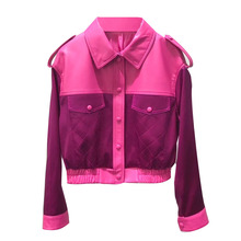 Coat Sheepskin-Jacket Genuine-Leather Motorcycle Women Spring Autumn Short Stiching British-Style