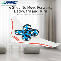 JJRC H36S 2.4G 4 In 1 RC Vehicle Flying Drone Land Driving Boat Glidering Quadcopter RTR Model VS E016F H36 H36F w/ 3 Battery