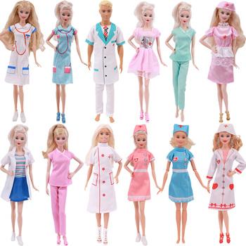 3 kawałki barbie ubrania lekarz strój pielęgniarki sceny ubrania typu Cosplay dla 11 Cal 26-28 Cm lalka barbie akcesoria dla barbie tanie i dobre opinie 25-36m 4-6y 7-12y 12 + y Tkanina CN (pochodzenie) L100 Dziewczyny Moda Sukienka w stylu zachodnim Excluding Barbie Akcesoria dla lalek