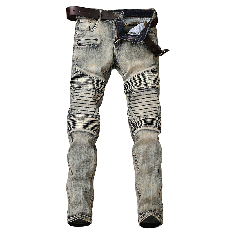 Skinny Jeans Men Locomotive Jean Homme Denim Spijkerbroeken Heren Biker Stretch Pants Slim Fit Dungarees Pantalon Hombre Fashion
