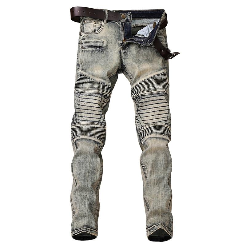 Skinny Jeans Men Locomotive Jean Homme Denim Spijkerbroeken Heren Biker Stretch Pants Slim Fit Dungarees Pantalon Hombre Fashion