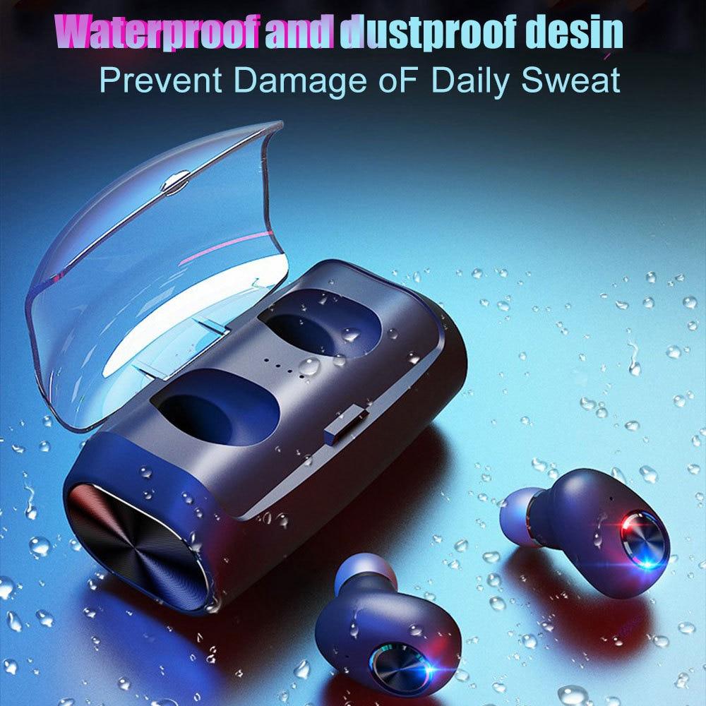 V6 Bluetooth 5.0 Earphones TWS Wireless Stereo HiFi Sports Headset With 2600mAh Charging Box Waterproof VS I10 TWS Headphone