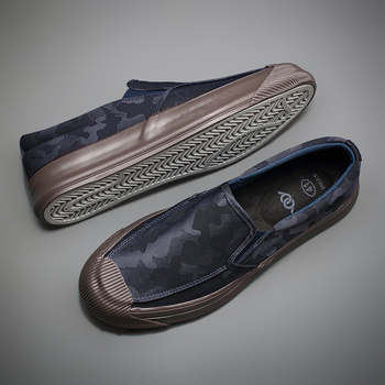 2020 New Camouflage Canvas Sneaker Shoes Men s Breathable Leisure Vulcanize Shoes Lazy Platform Trend