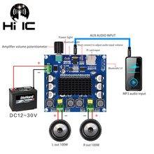 Mais recente versão bluetooth 5.0 tda7498 placa de amplificador digital 2x100w alto-falante módulo amplificador áudio estéreo suporte tf cartão aux XH-A105