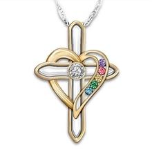 Женская мода ожерелье подарок ко Дню Святого Валентина Крест